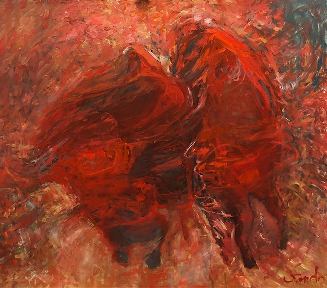 Barn Dance, Oil, 42x48