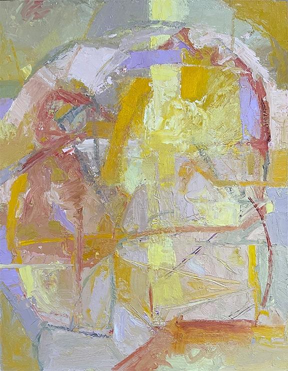 Sun and Lavender Snow, Oil, 18x14